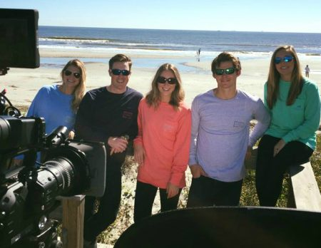 Palmetto Moon holiday TV campaign shoot, Isle of Palms, South Carolina.
