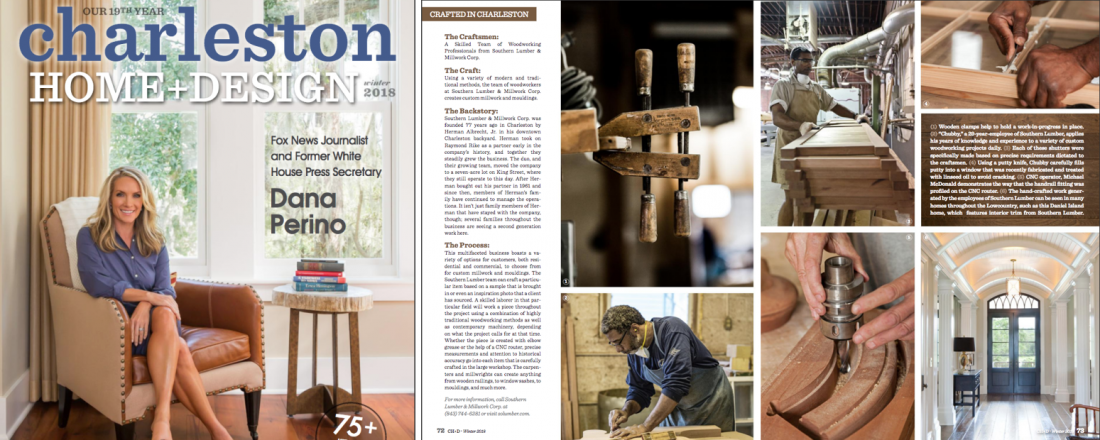 Southern Lumber Makes An Appearance In Charleston Home + Design Magazine