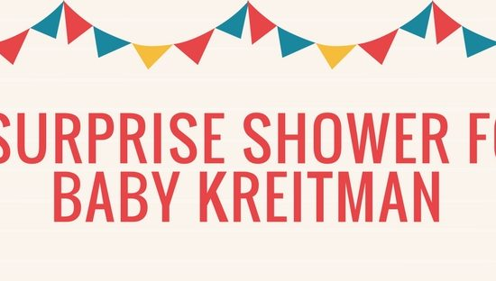 A Surprise Shower for Baby Kreitman