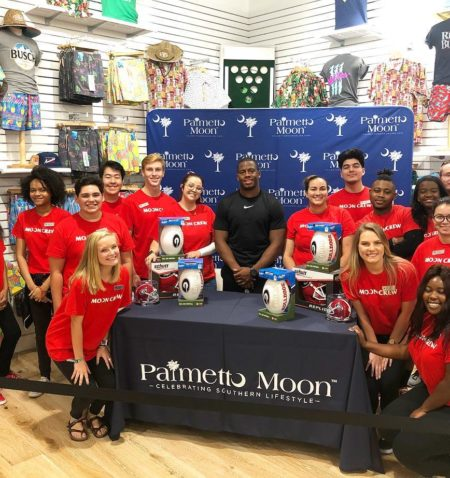 Nick Chubb autograph signing at Palmetto Moon
